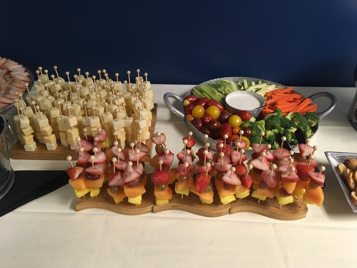 a display of a several food
