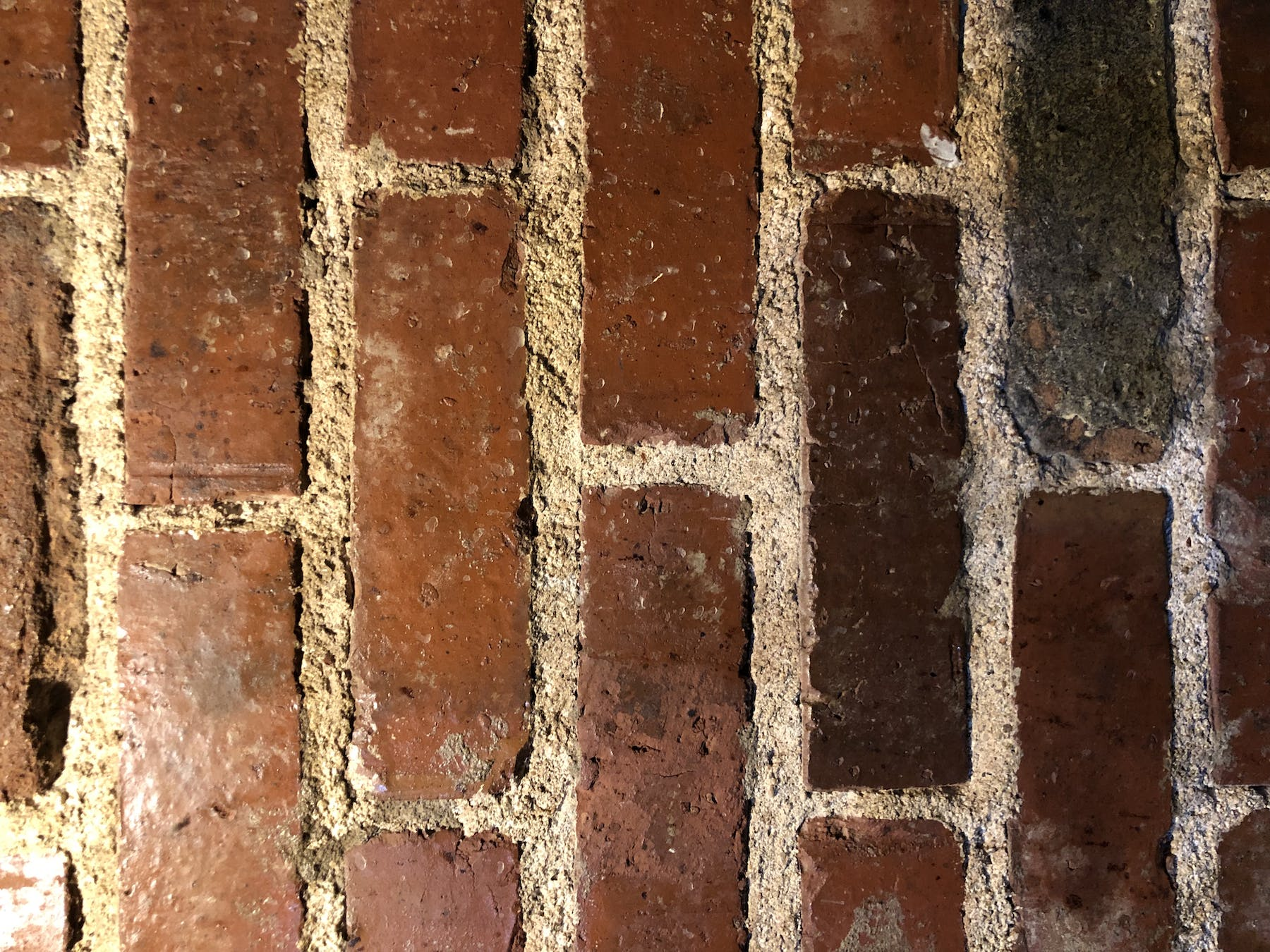 a close up of a brick wall