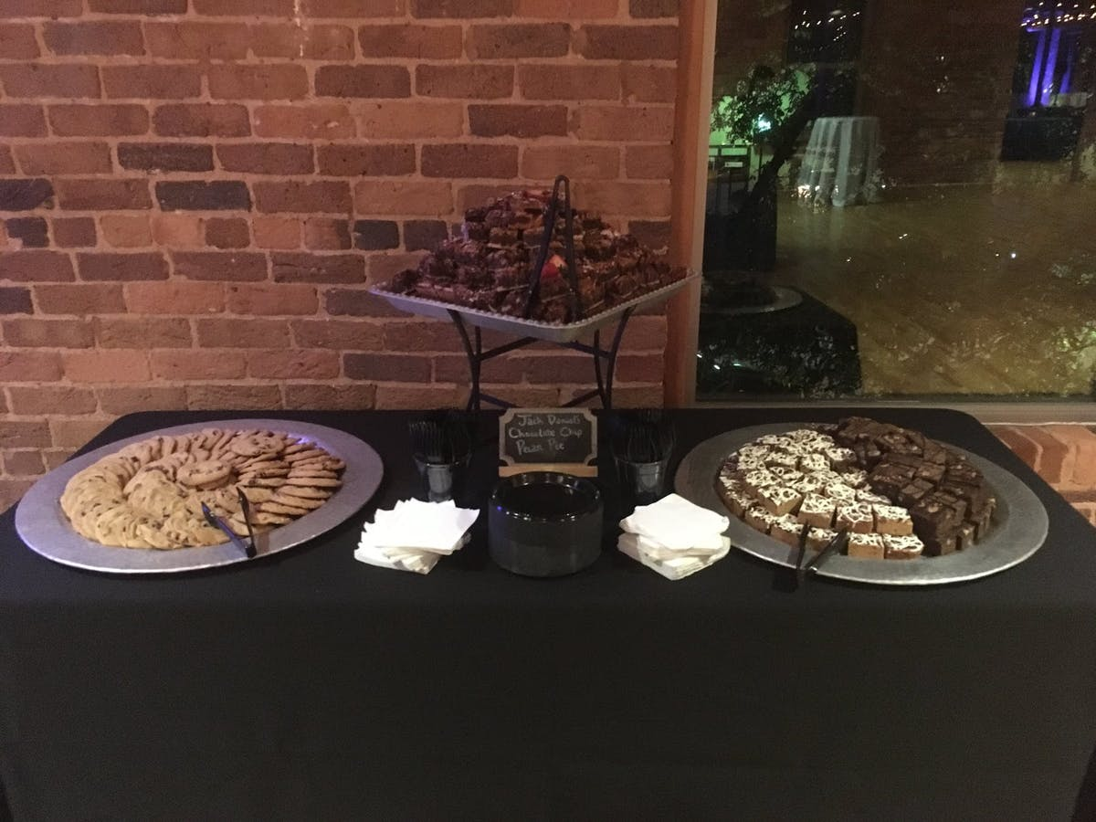 a display of food on top of a table