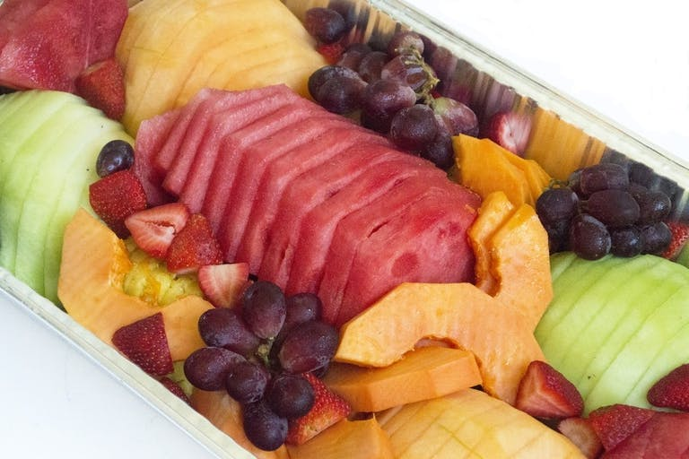 Rutt's Cafe, Catering, Fruit Salad, Pine Apple, Papaya, Grapes, Strawberry,