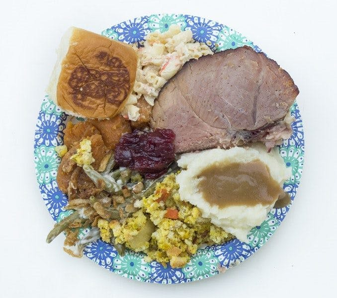 a plate of food