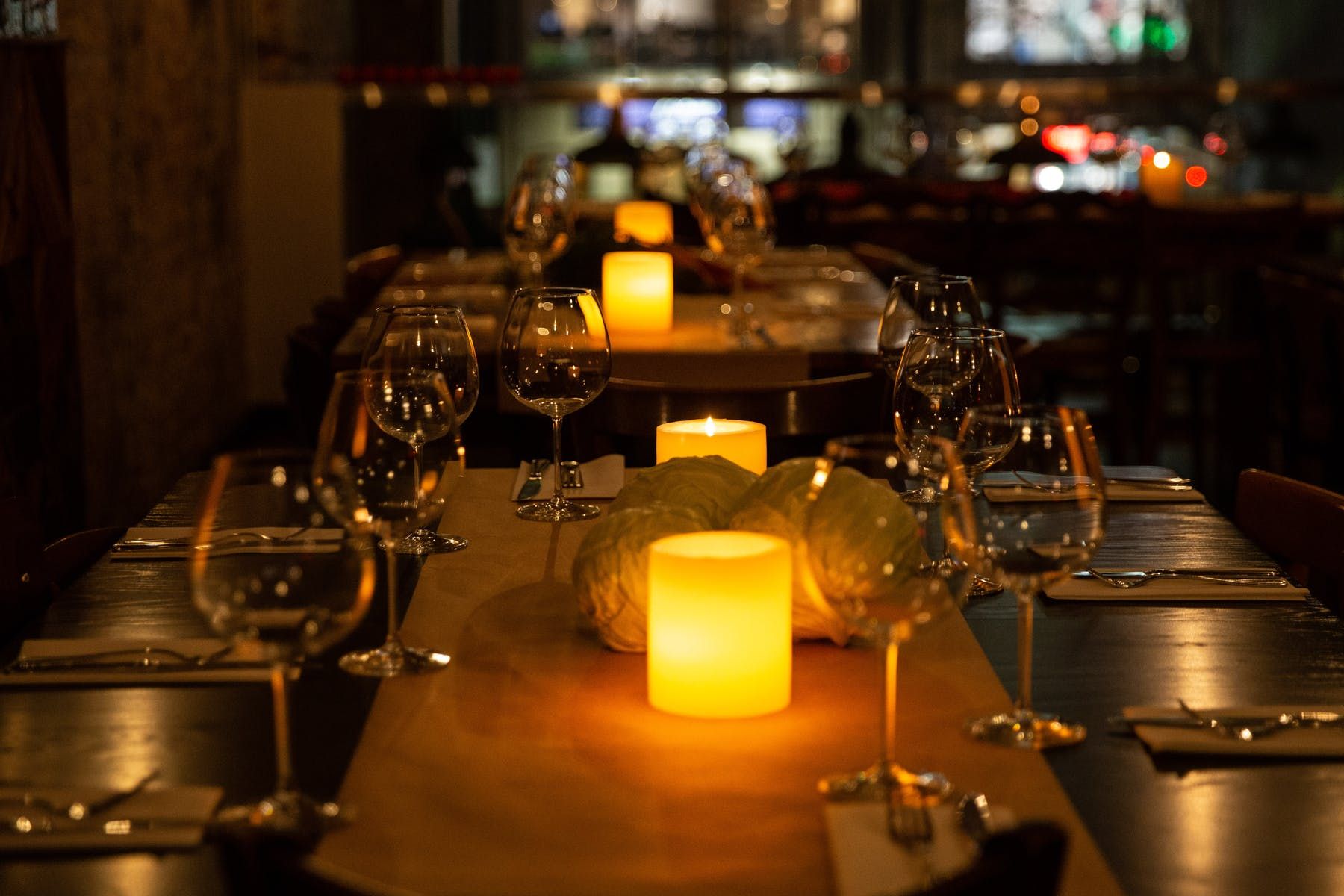 Private dining space upstairs at North Miznon UWS