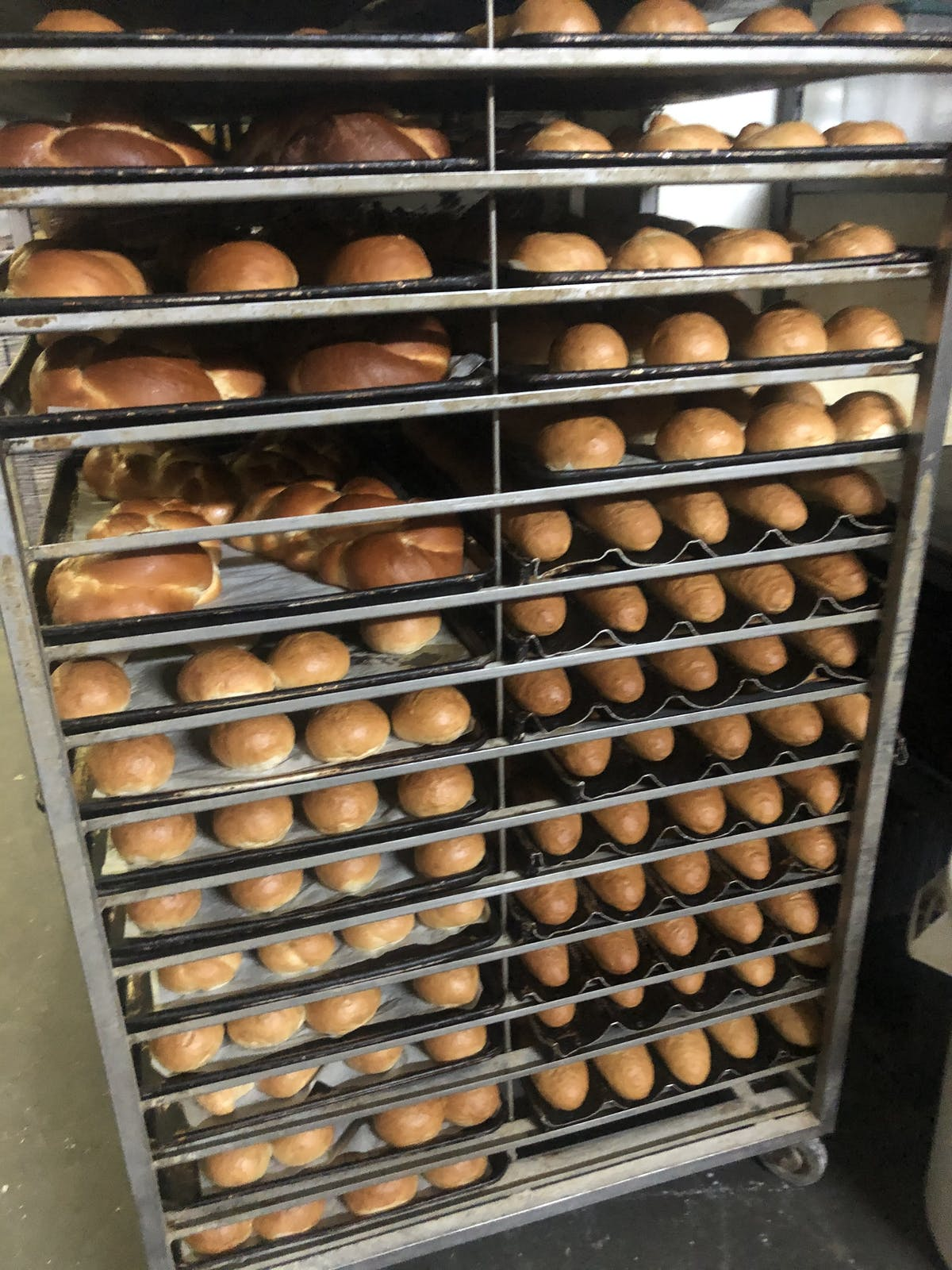 bread on trays