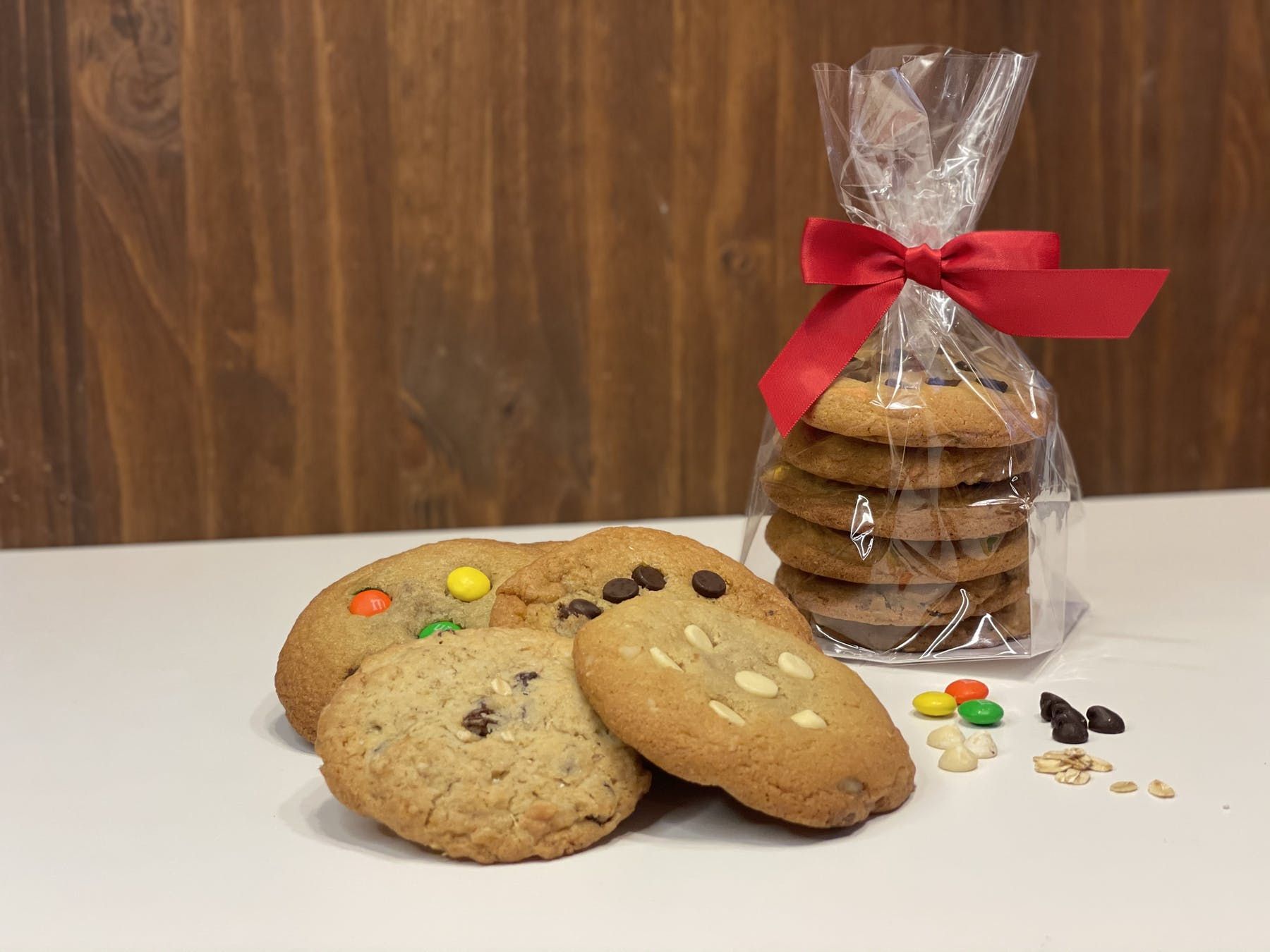 An assortment of cookies on a table