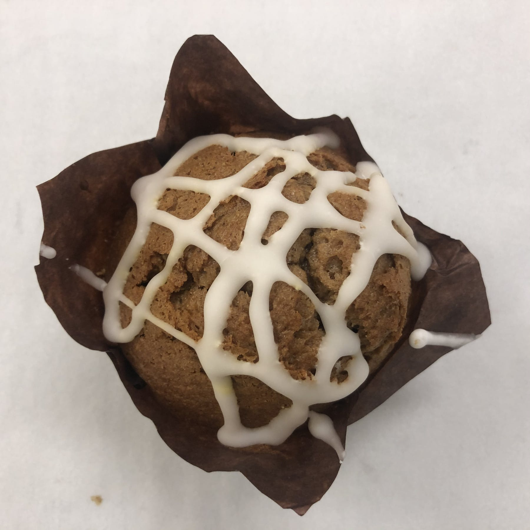 a muffin with glaze
