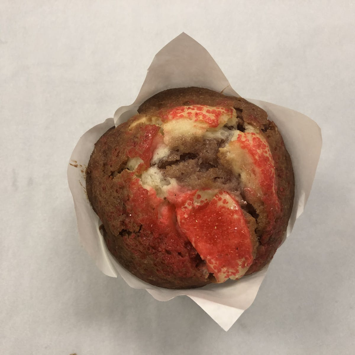 a red muffin