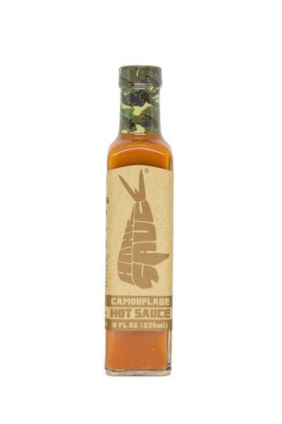 Hot sauce bottle.