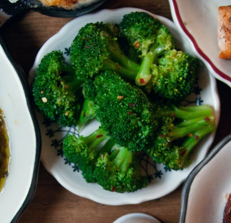 Spicy broccoli at Bubby's