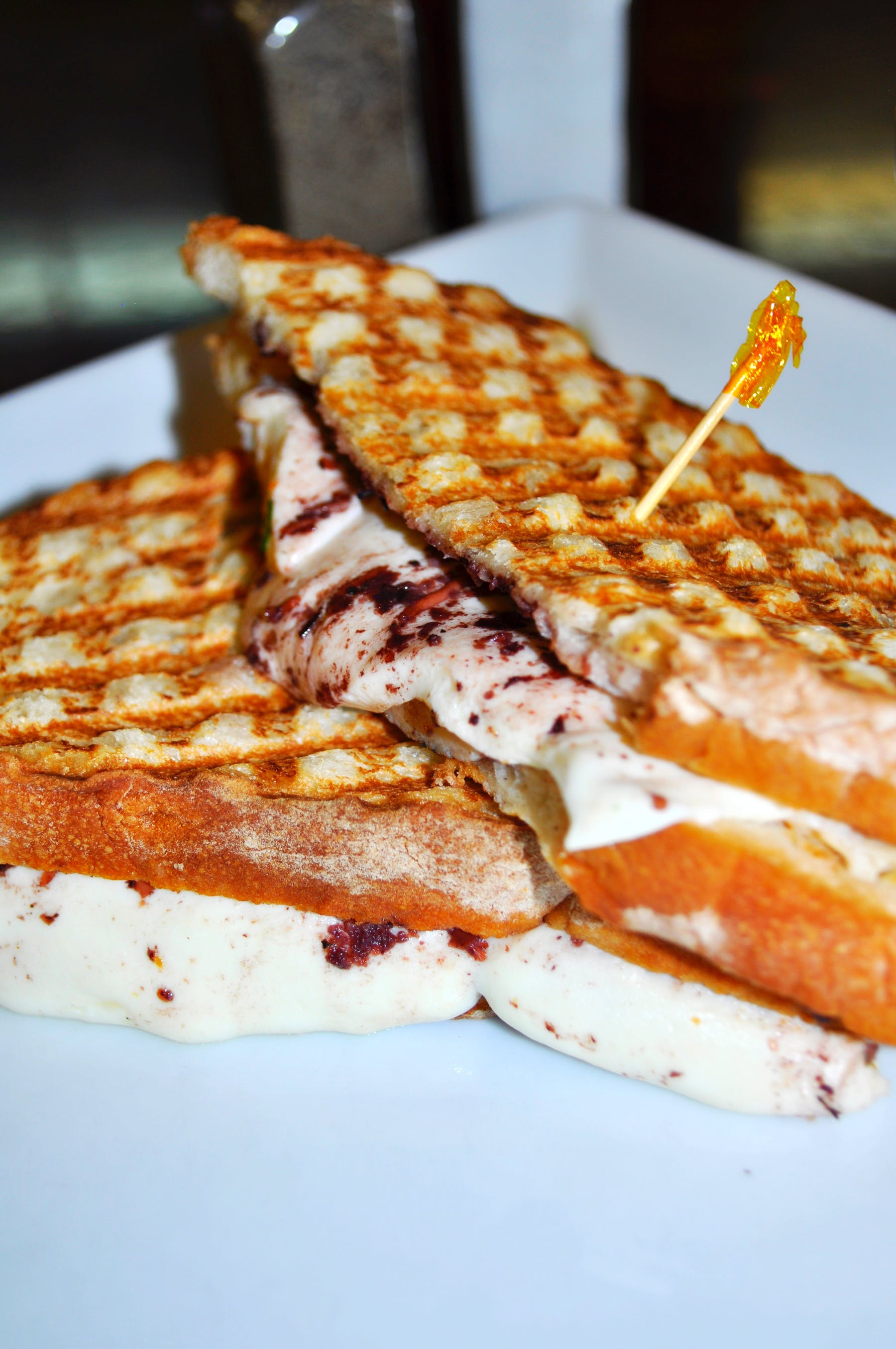 Grilled Cheese with Olives Panini