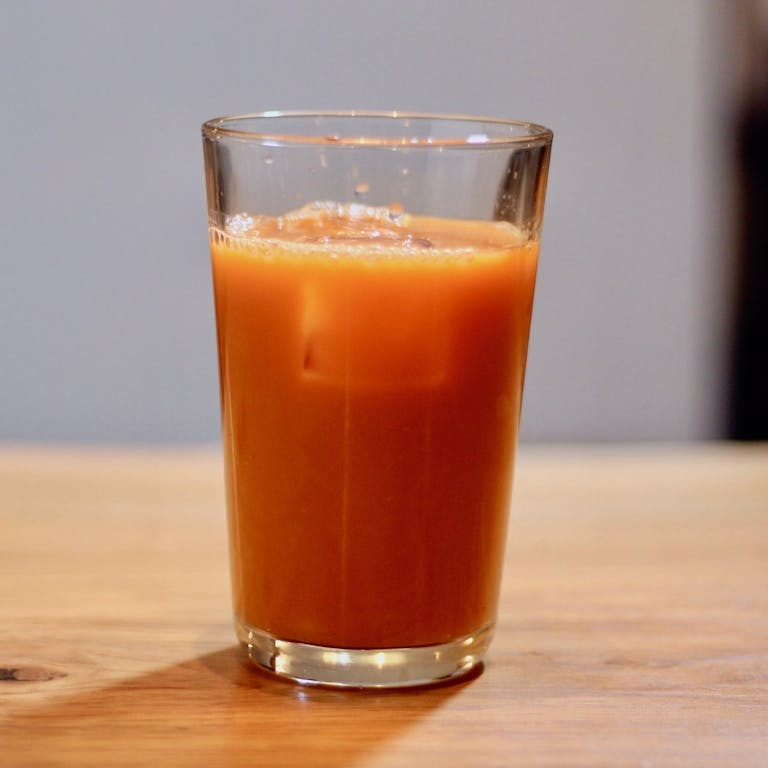 Fresh Pressed Carrot and Ginger Juice