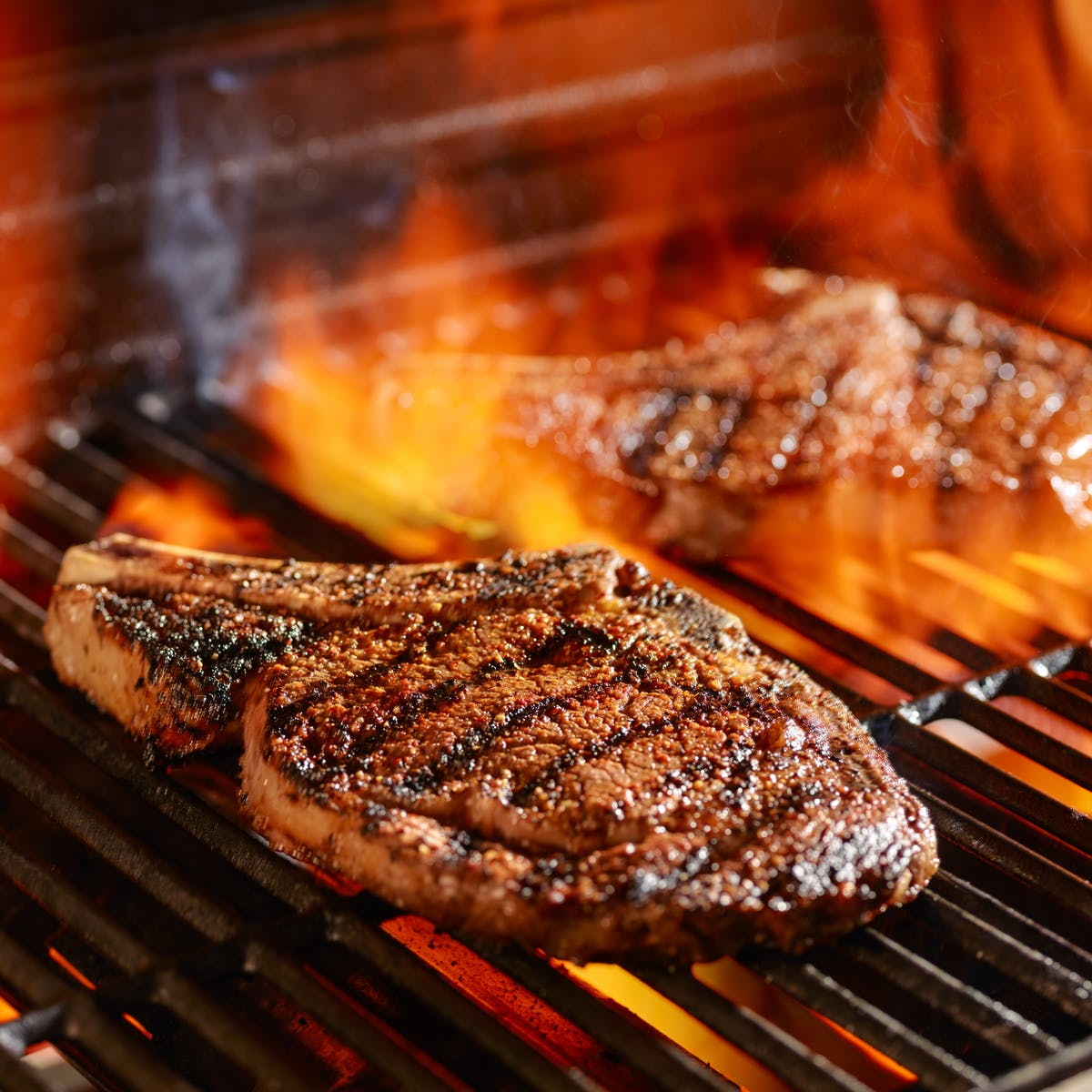 a close up of food on a grill