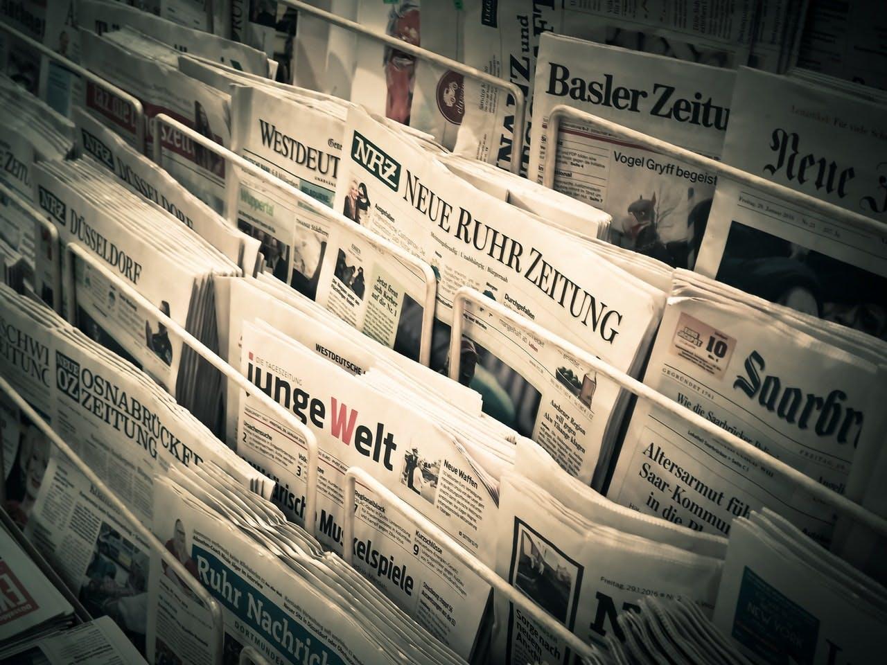 newspaper in a stand