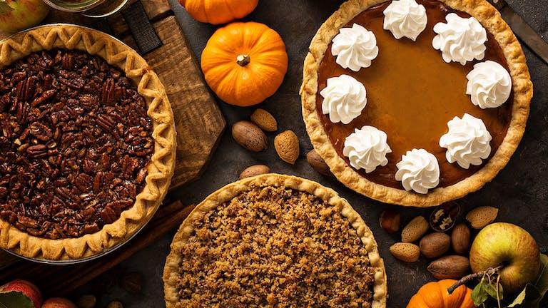Thanksgiving Pies - pumpkin pie and apple pie