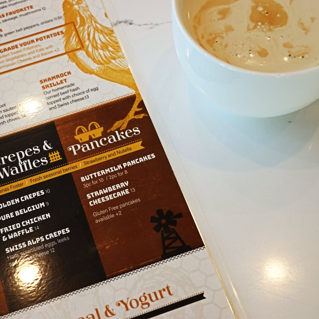 Golden Nest Menu and Latte