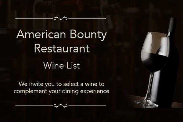 American Bounty Restaurant's Online Wine & Beverage List