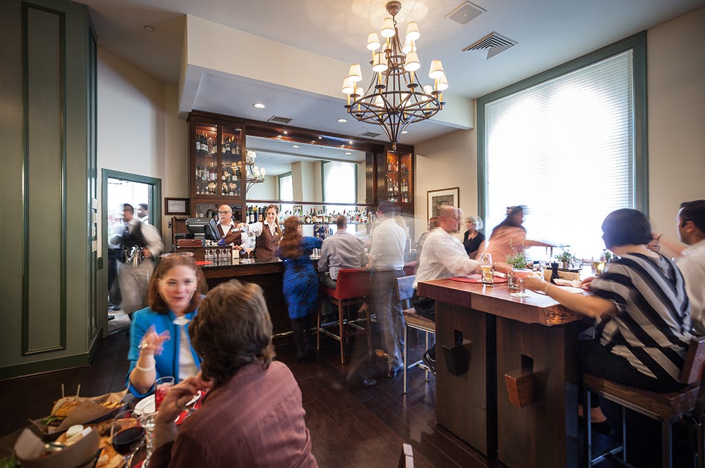 Inside the Tavern at American Bounty Restaurant at The Culinary Institute of America, Hudson Valley.