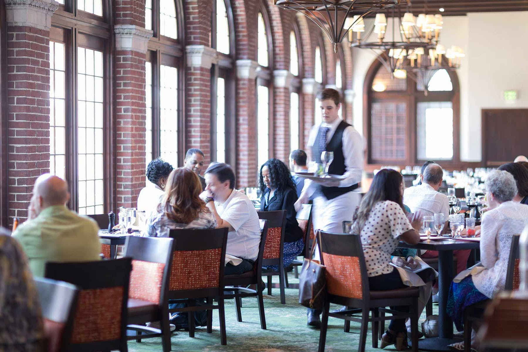 Lunch service in the American Bounty restaurant, on the campus of The Culinary Institute of America in Hyde Park, NY.