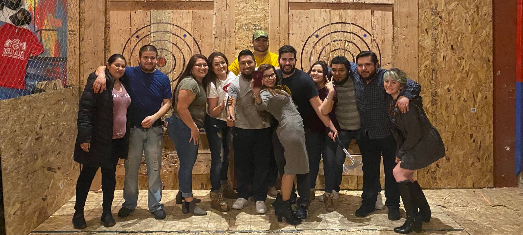 a group of people posing for a picture