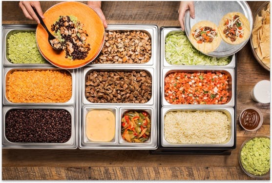 a box filled with different types of food