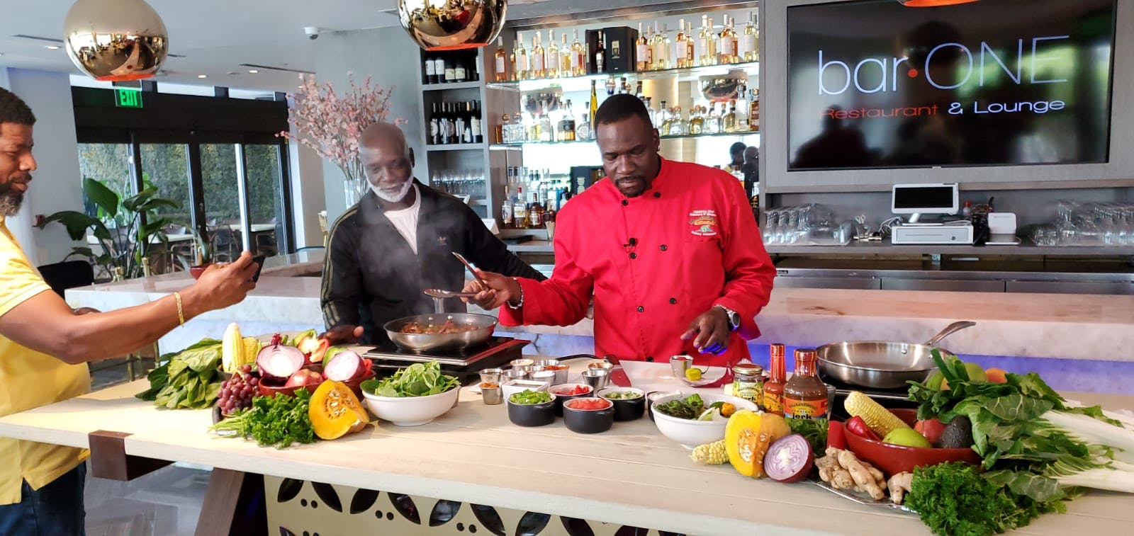 Cooking With Love Chef Simpson And Peter Thomas Bar One