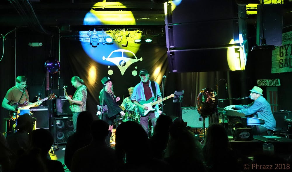 a group of people on a stage
