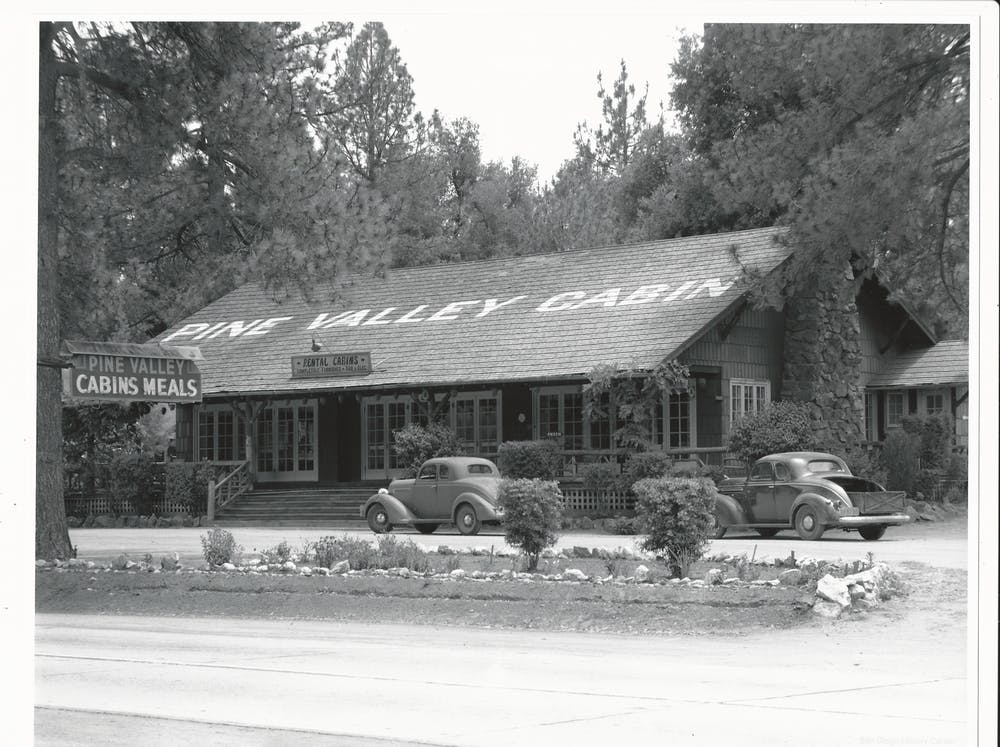 the pine valley cabin building in the old days