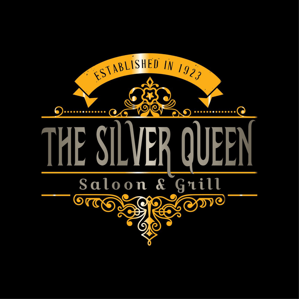 the silver queen saloon and grill logo