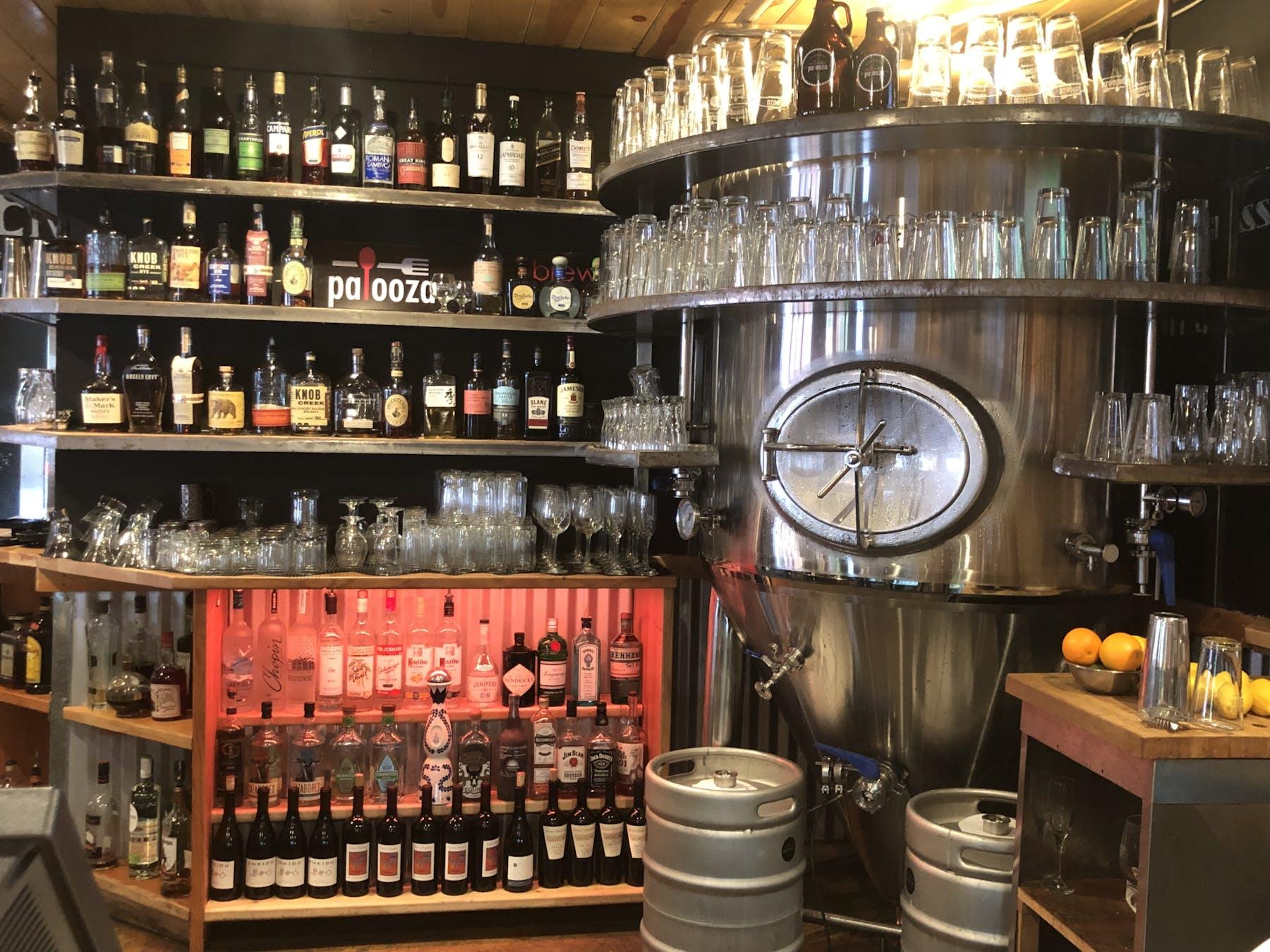 restaurant's wine cellar