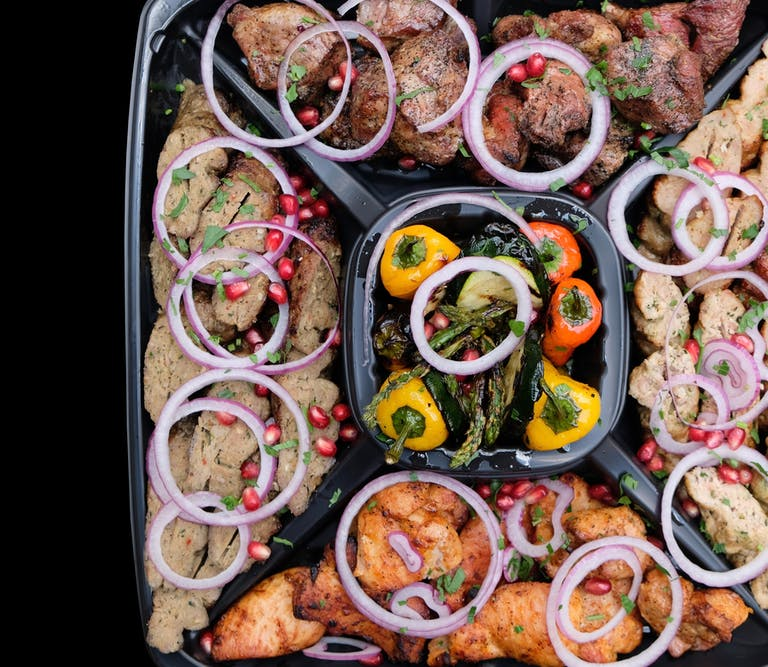 Mixed Meat Platter with Grilled Vegetables
