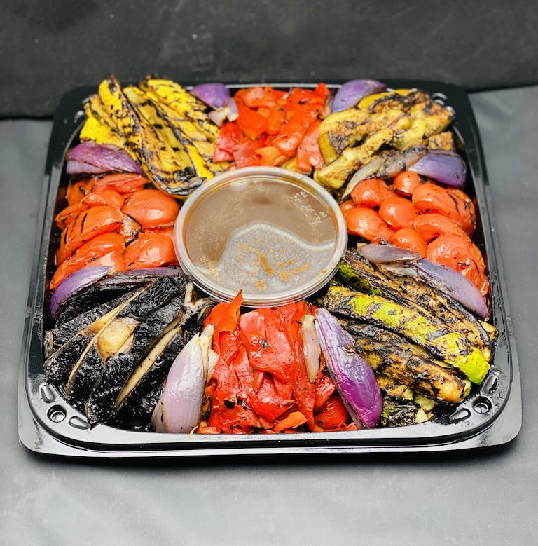 a tray of food