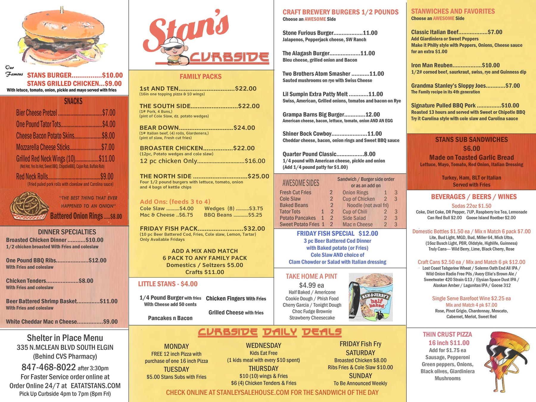 curbside menu