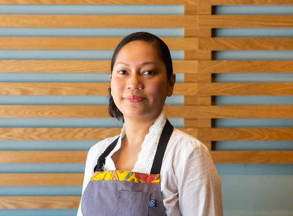 woman chef posing for a portrait
