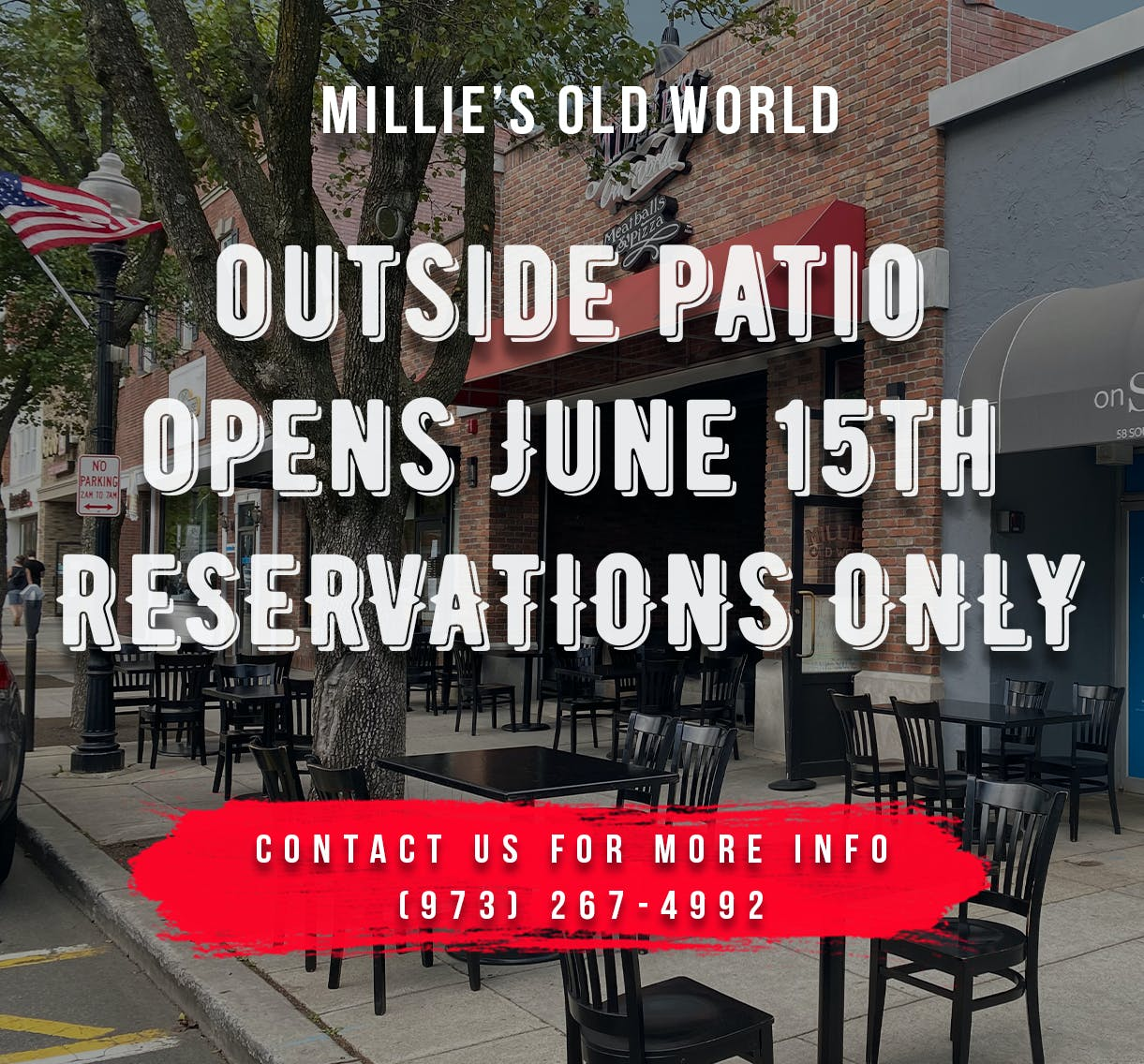 Outdoor dining now open