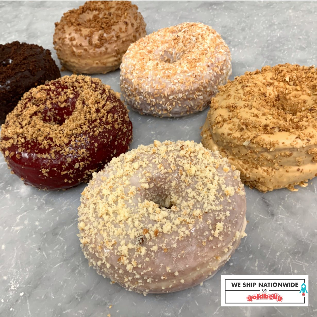 many different kinds of donuts