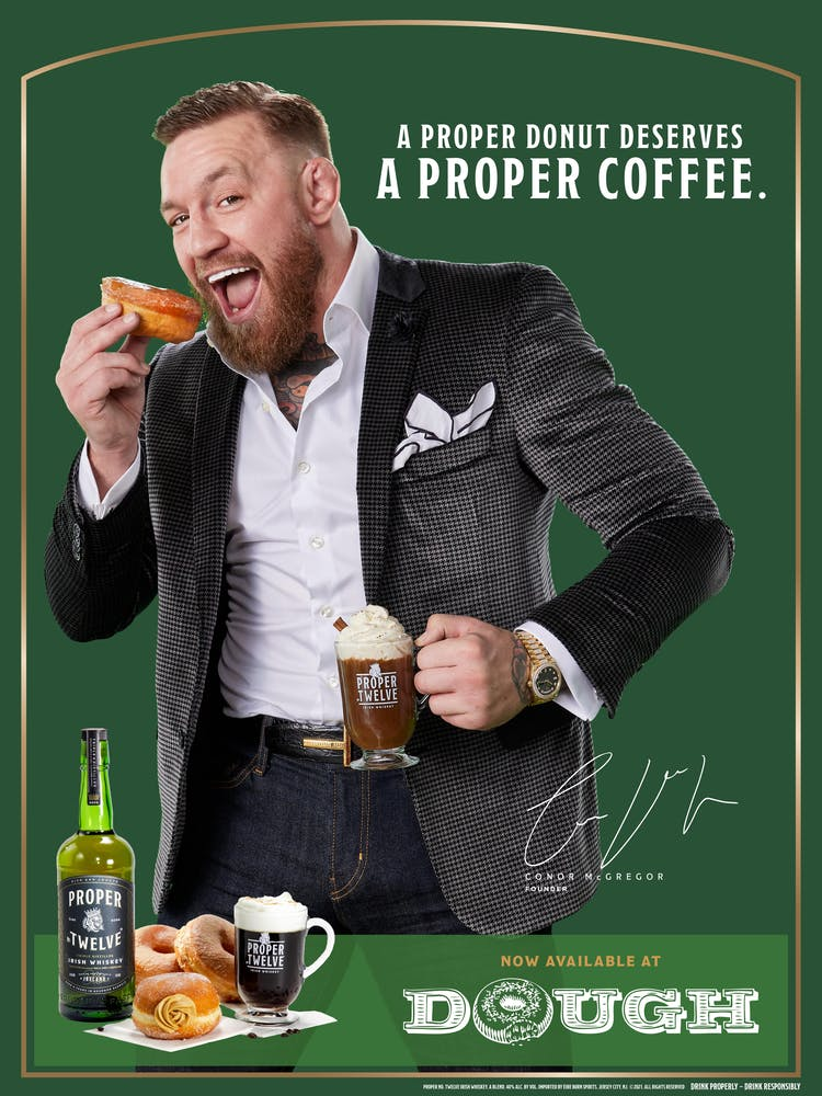 Conor McGregor that is eating some food