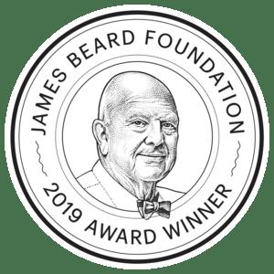 James Beard Foundation Award Winner 2019 logo