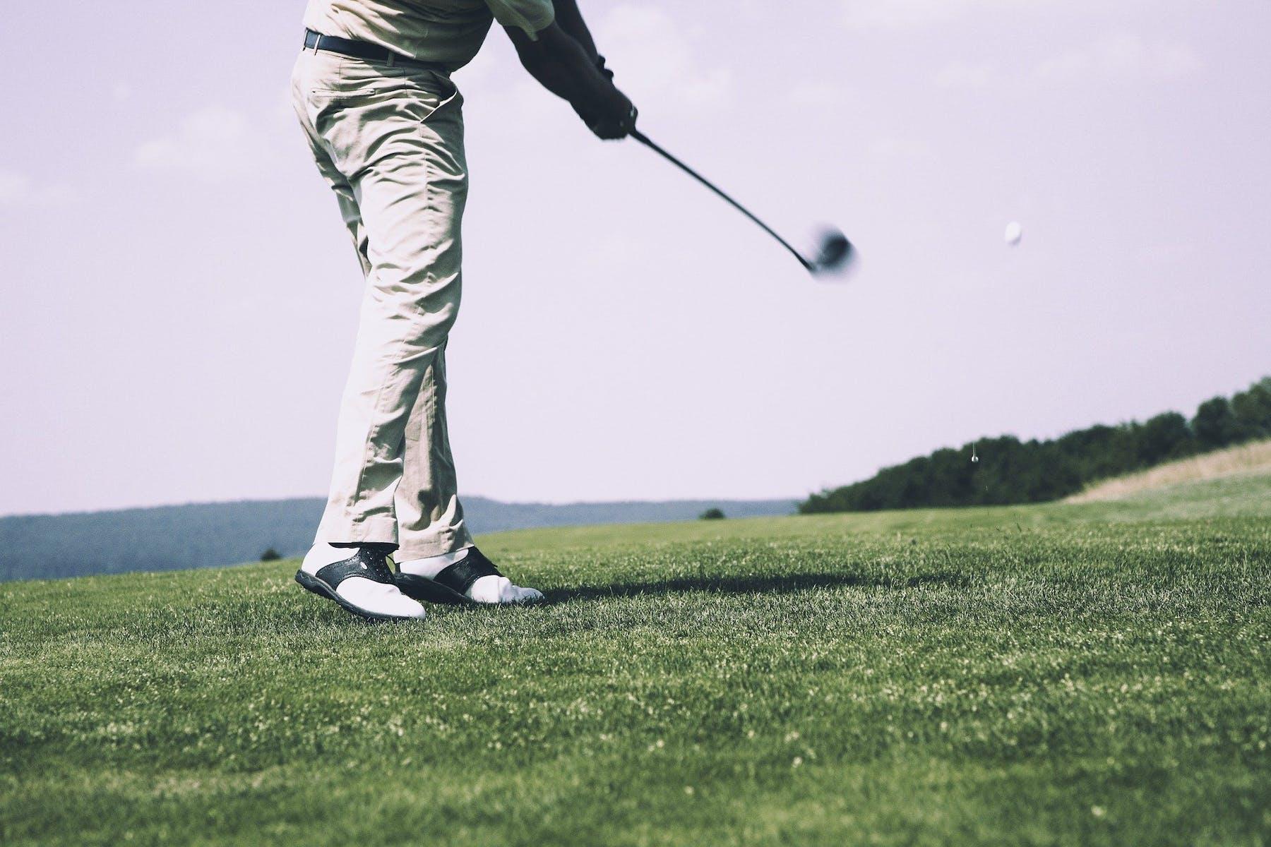 someone golfing