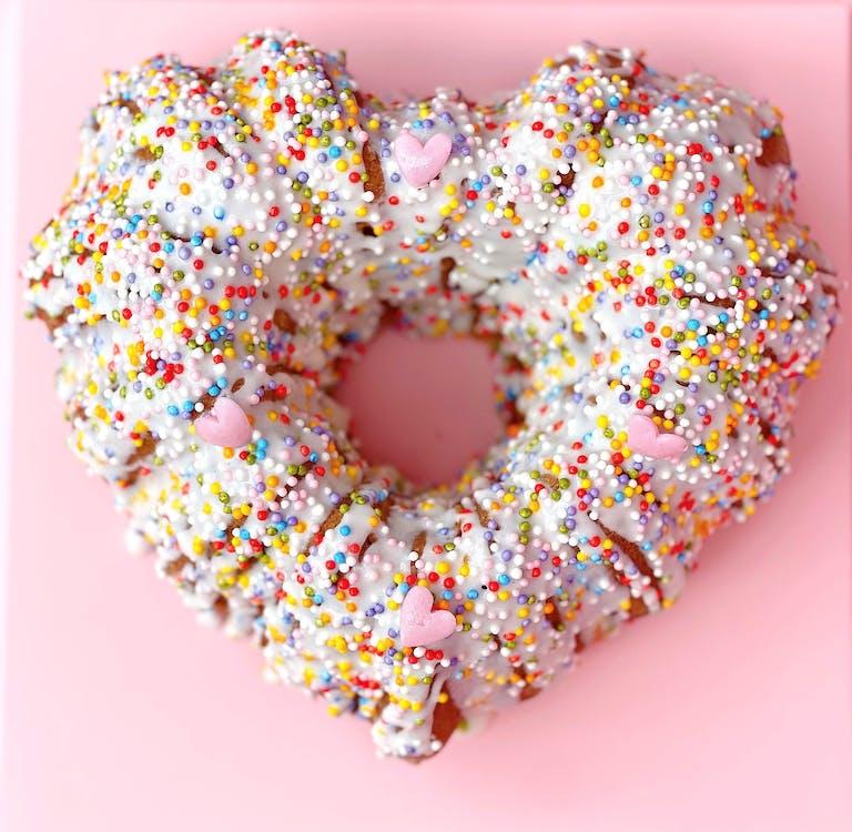 a close up of a doughnut