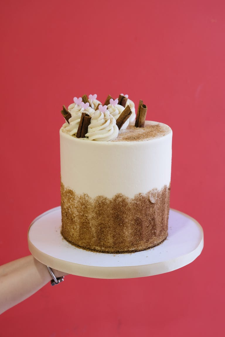 a cake made to look like a cup