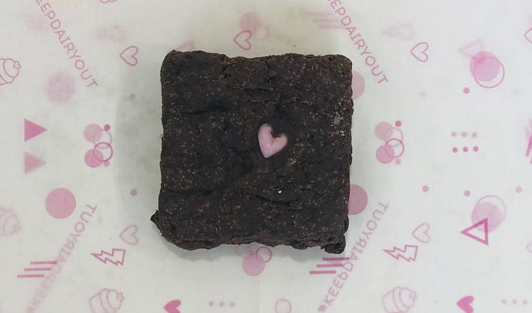 a piece of cake on a paper