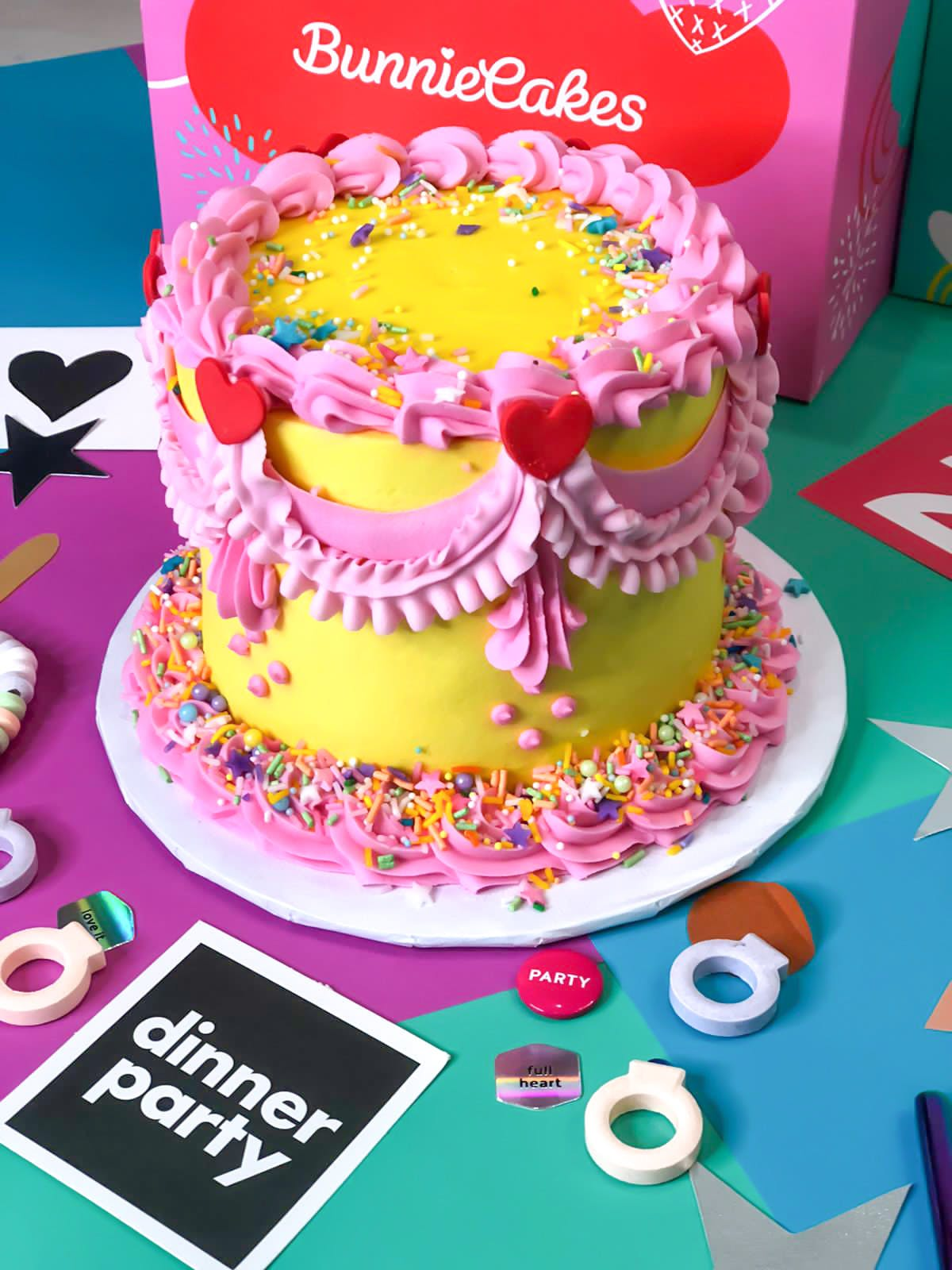a plate of birthday cake on a table