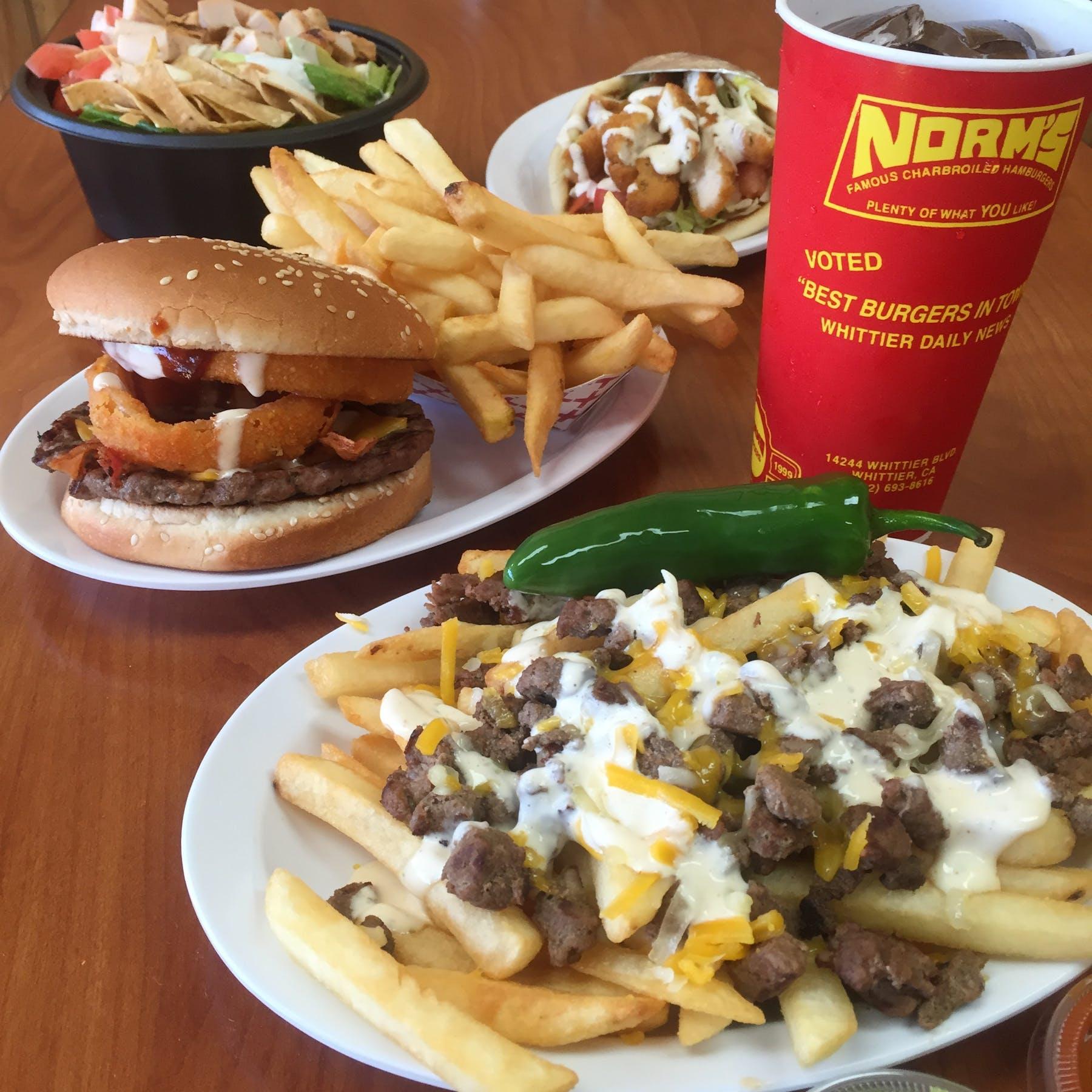Norm S Famous Burgers Burger Joint Whittier Ca