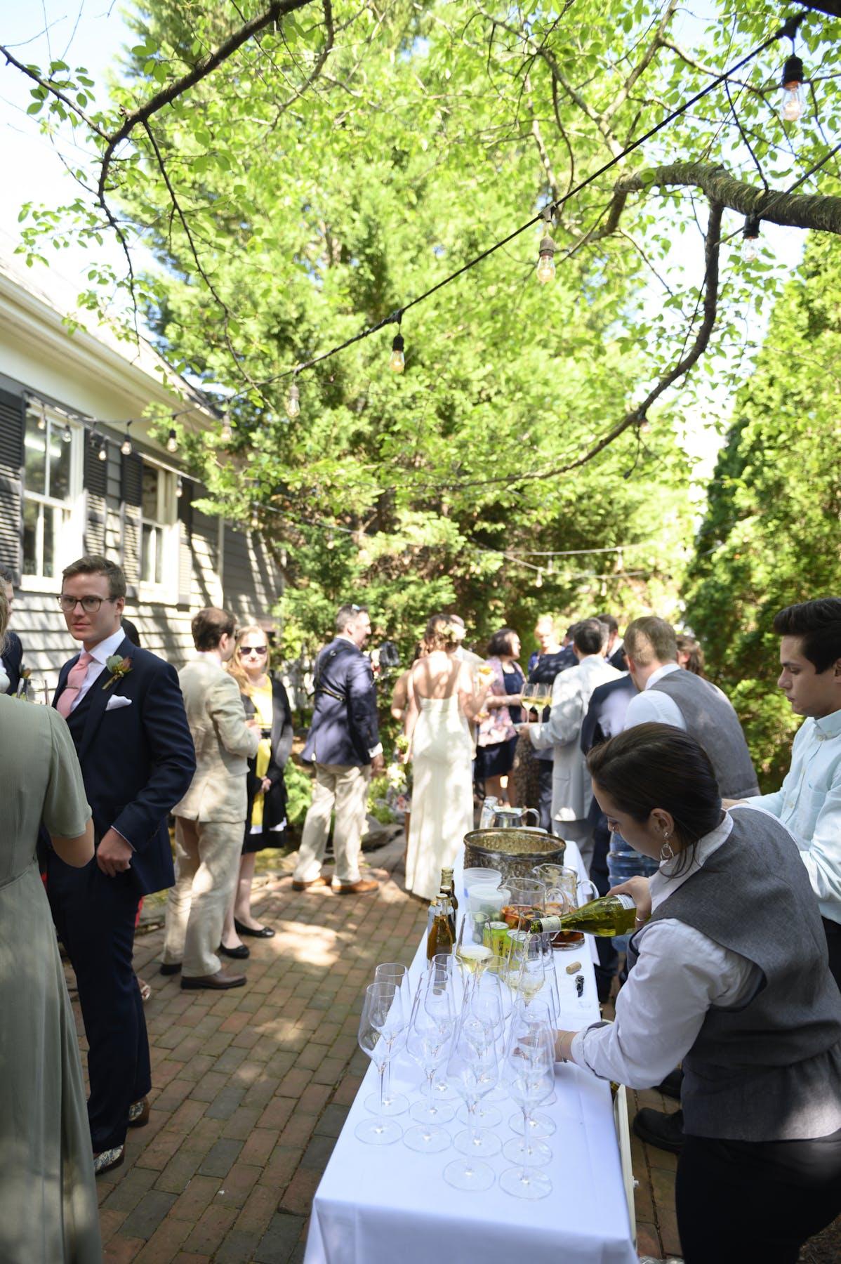 A gathering at a celebration
