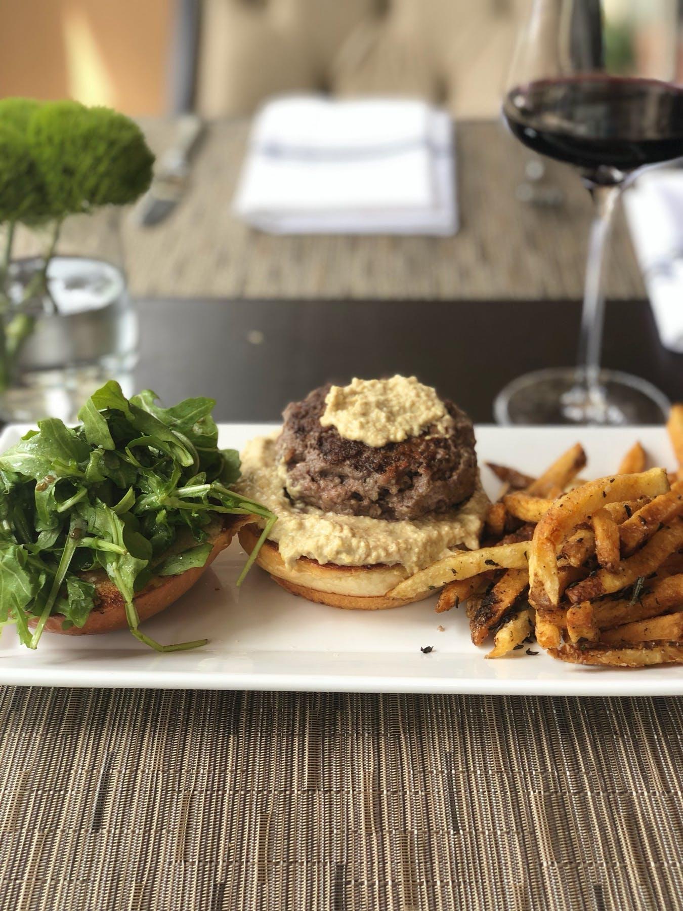 hummus burger