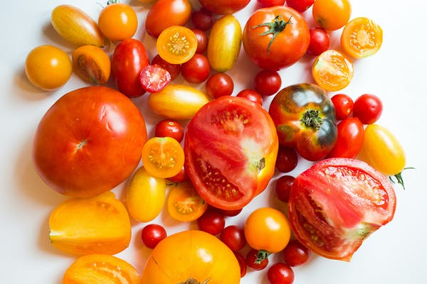 a plate full of fruit