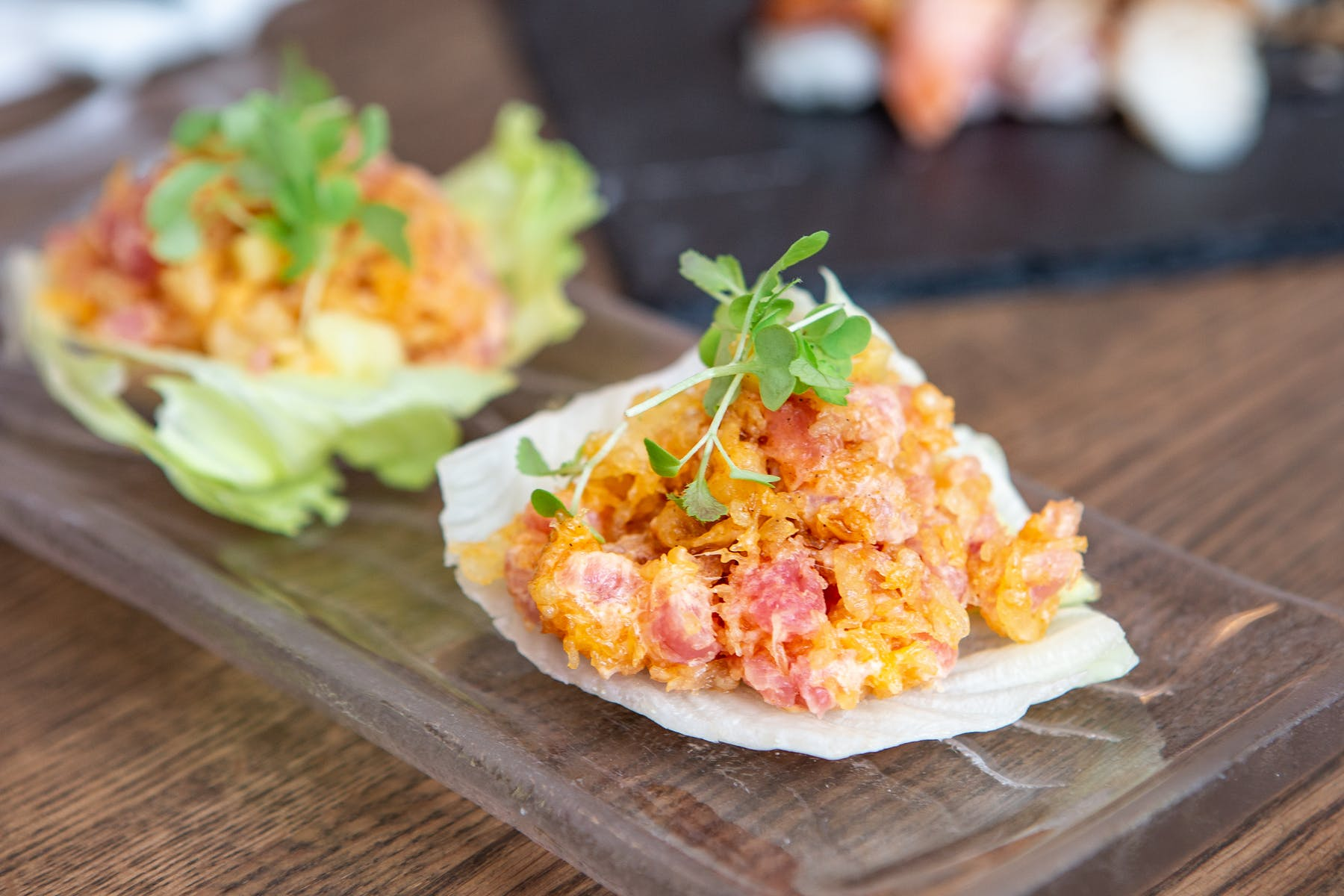 Spicy Tuna Lettuce Wraps - Fuji at WoC - Quincy, MA