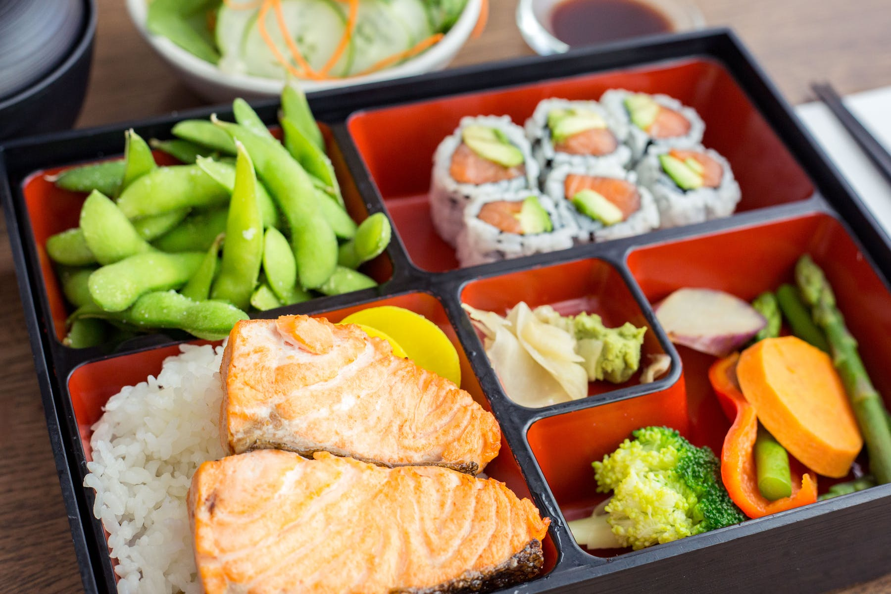 Salmon Bento Box Lunch - Fuji at WoC - Quincy, MA