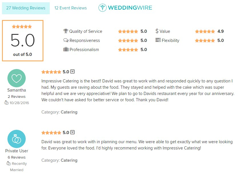 a screenshot of Client Reviews