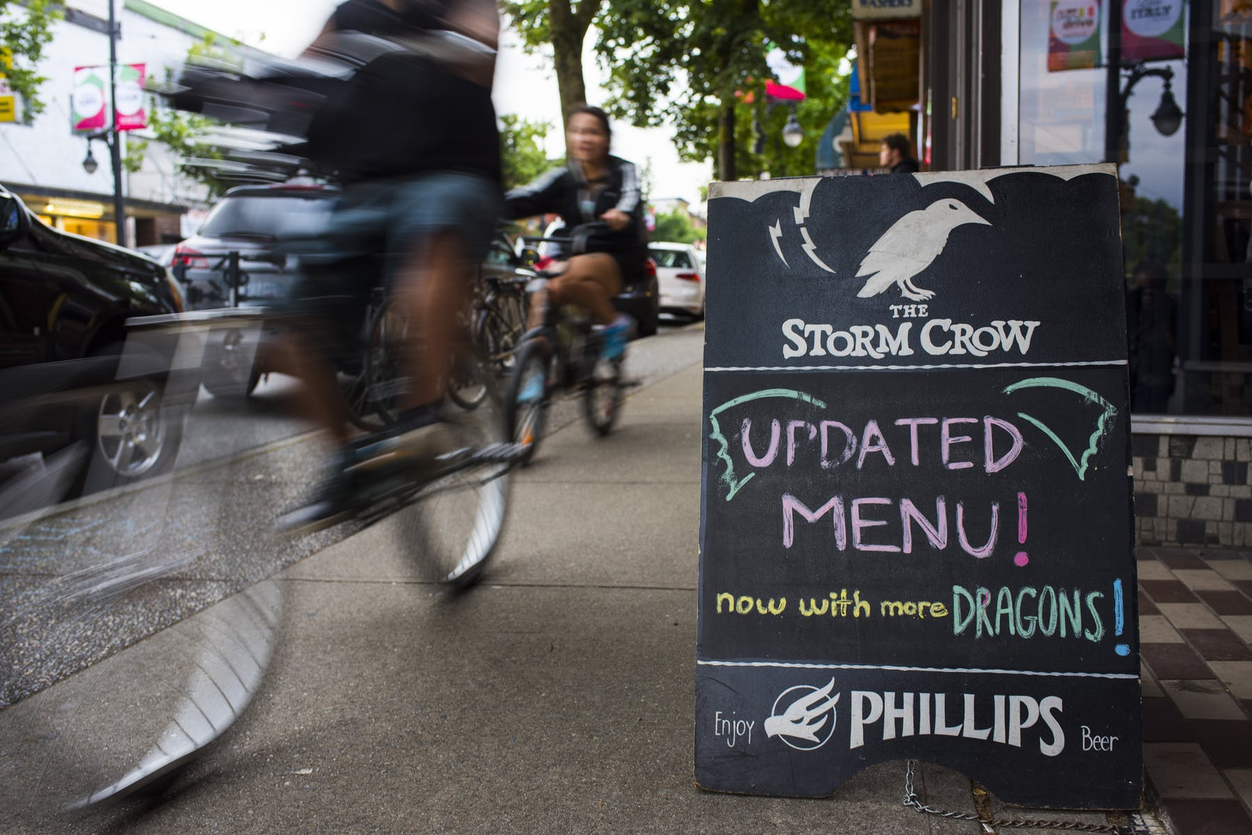 Convenient location for walking and biking to Storm Crow Tavern