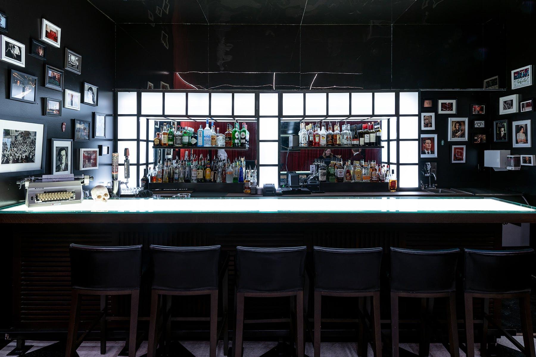 a store inside of a restaurant